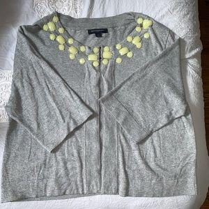 Banana Republic gray embellished cardigan - Size L